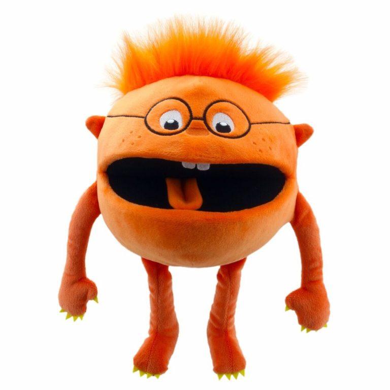 Handpop 20cm baby monster oranje