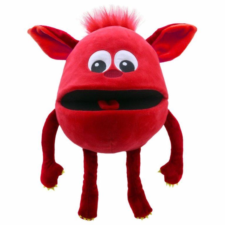 Handpop 20cm baby monster rood