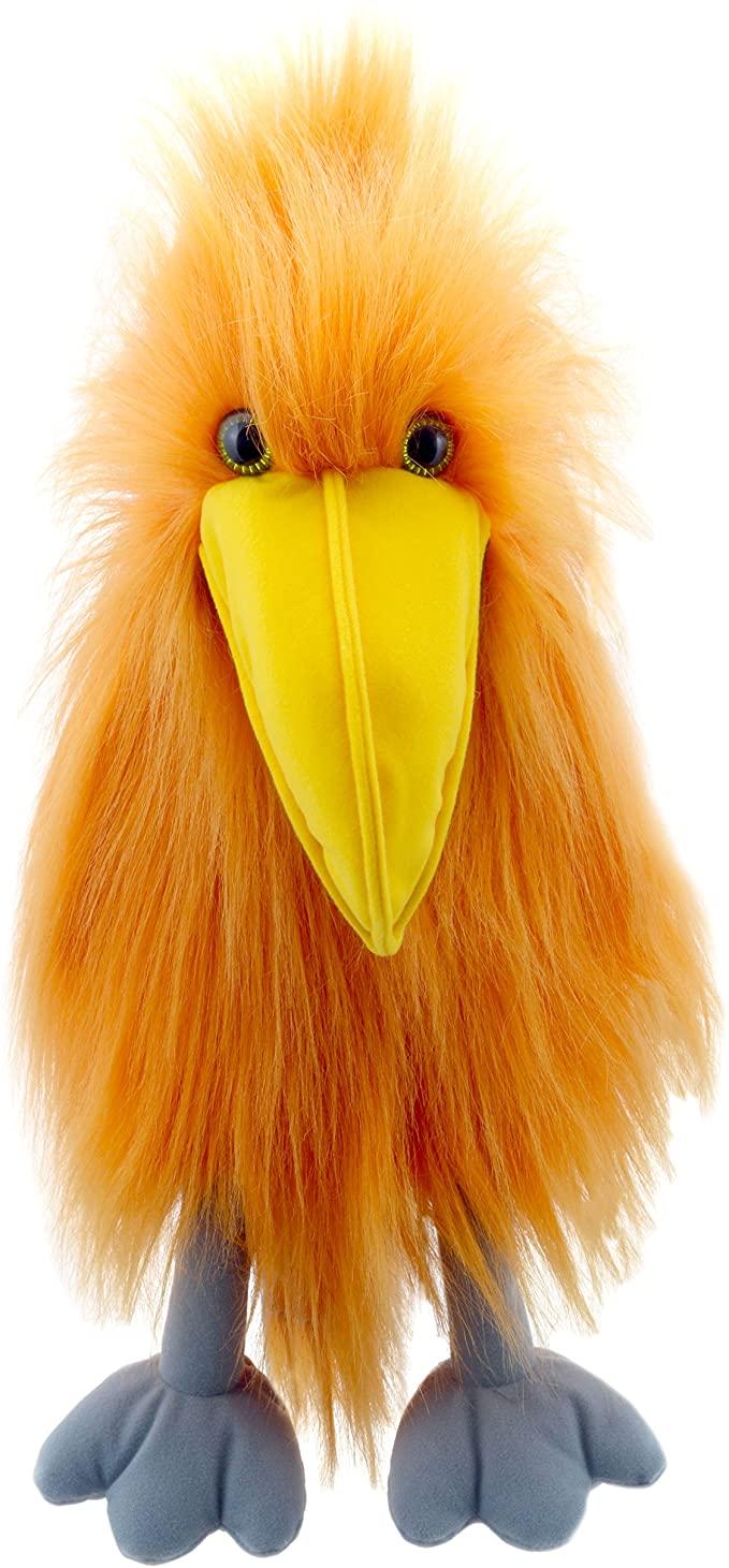 Handpop 40 cm orange bird