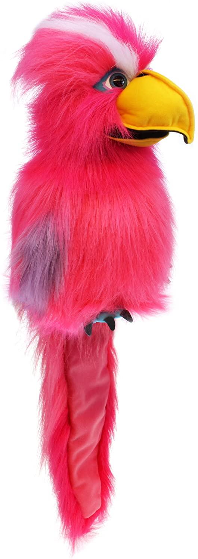 Handpop 45cm vogel Pink Galah