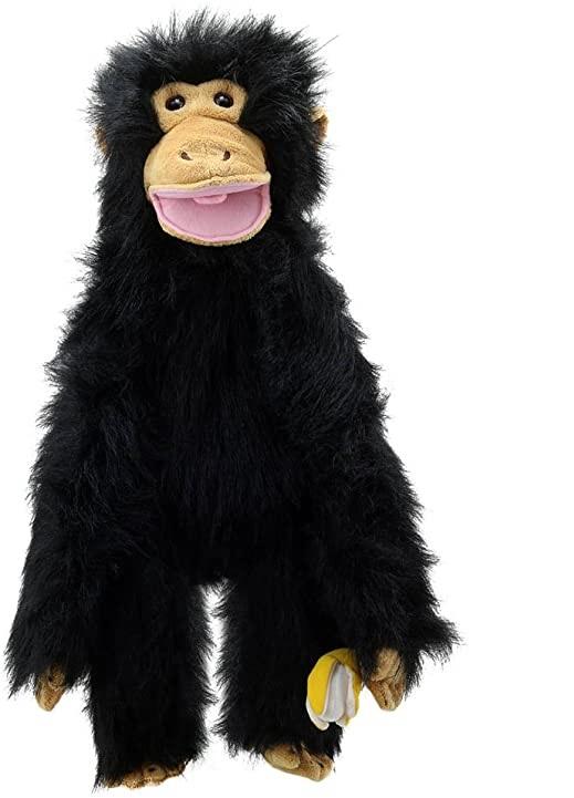 Handpop 60cm Chimp met banaan