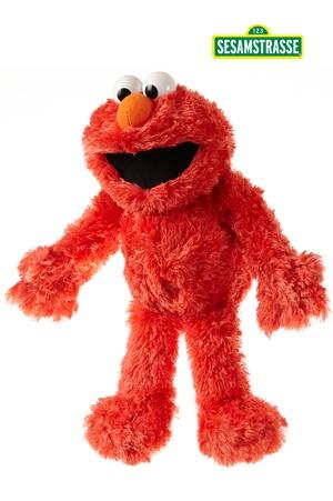 Handpop Elmo van Sesamstraat 35cm
