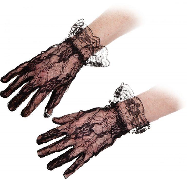 Handschoen kant zwart kort