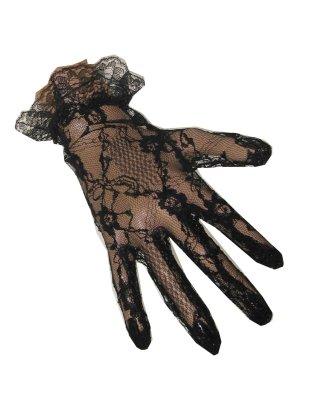 Handschoenen kant kort zwart