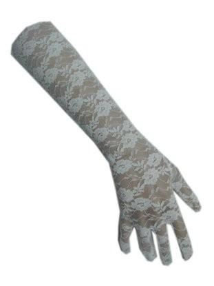 Handschoenen kant lang wit