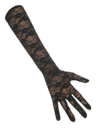 Handschoenen kant lang zwart
