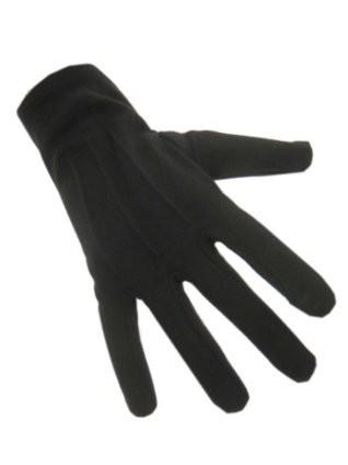 Handschoenen katoen kort zwart - Small