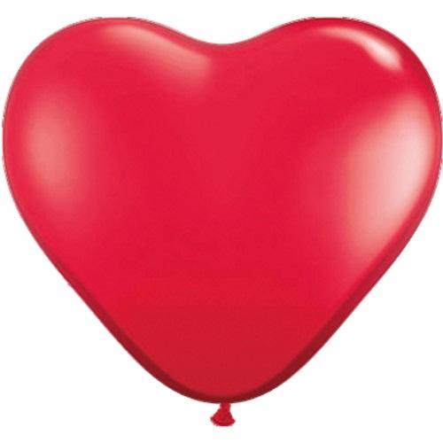 Hart ballonnen rood 30cm 10st