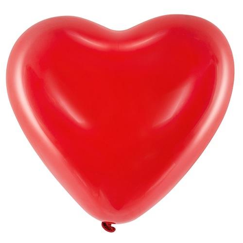 Hart ballonnen rood 40cm 6 stuks