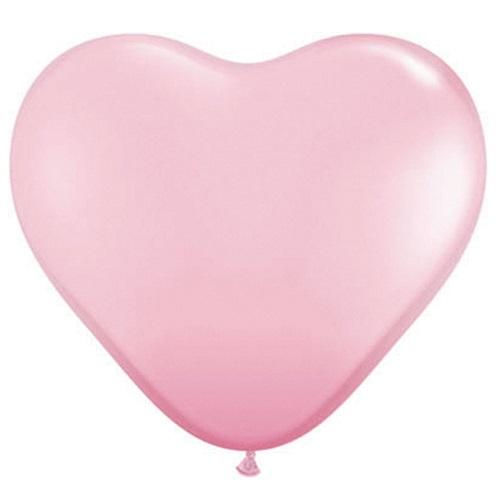 Hart ballonnen roze 40cm 6 stuks
