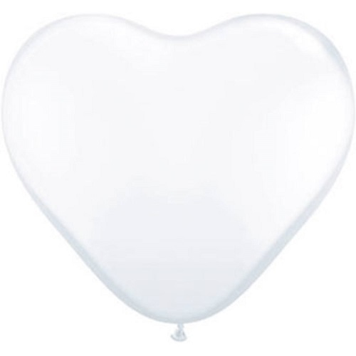 Hart ballonnen wit 30cm 10 stuks