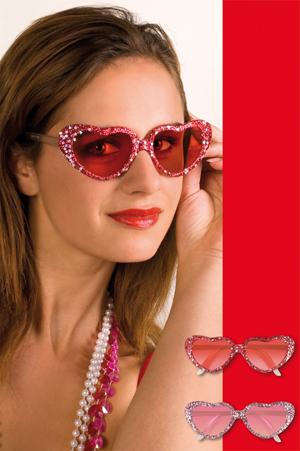 Hartjes bril glitter