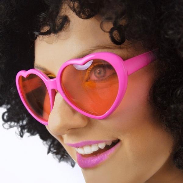 Hartjes bril roze