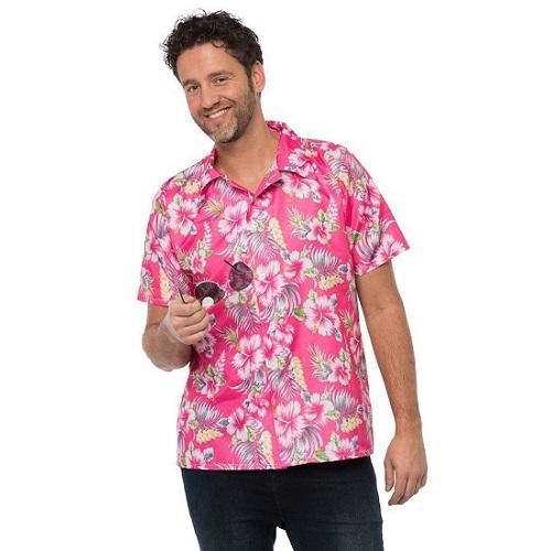 Hawaii blouse roze