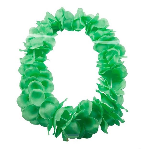 Hawaii krans neon groen