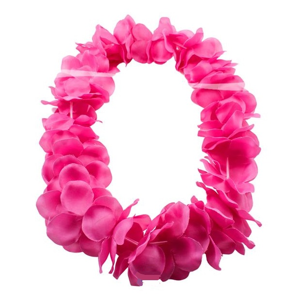 Hawaii krans neon roze