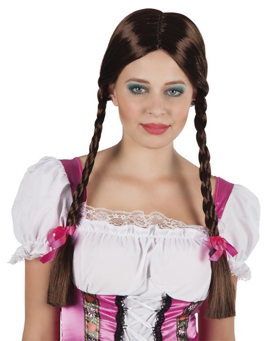 Heidi pruik bruin