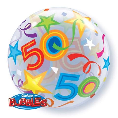 Helium ballon Bubbles 50 56cm