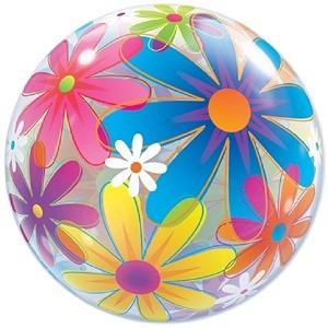 Helium ballon bubbles bloem 56 cm