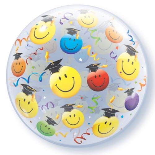 Helium ballon Bubbles geslaagd smile