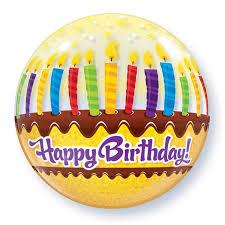Helium Ballon Bubbles Happy Birthday 56cm