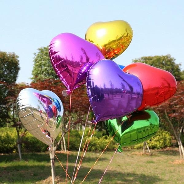 Helium ballon hart diverse kleuren - Goud