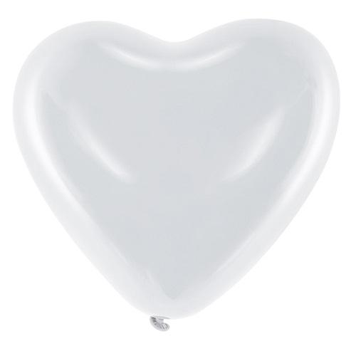 Helium ballon hart wit per stuk
