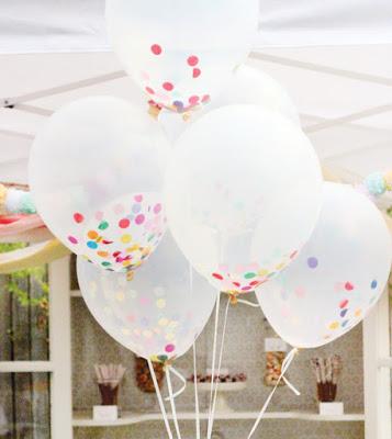 Helium ballon met confetti 12&#34,