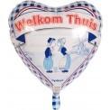 Helium Ballon Welkom Thuis Delfts