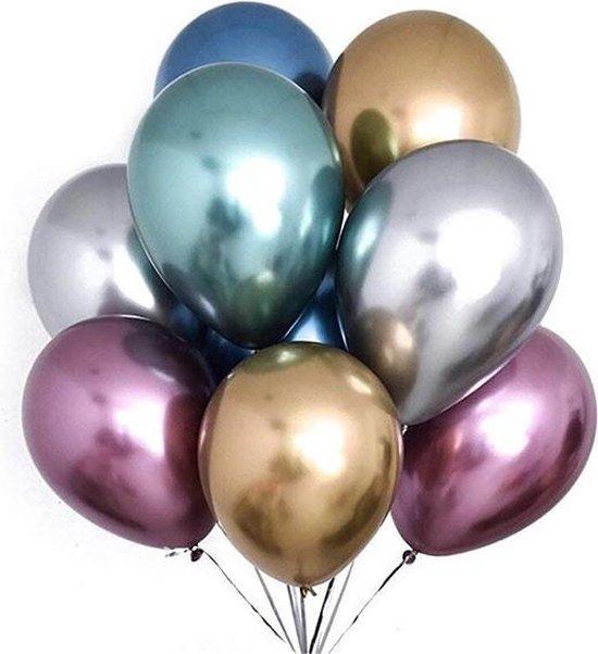 Heliumballon chrome kleuren 30cm per 1 stuk