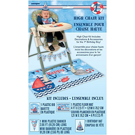 High chair kit 1st b-day Nautical