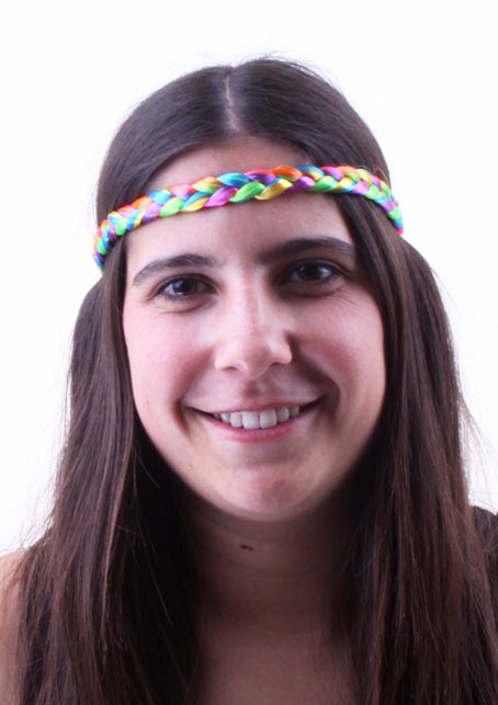 Hippie hoofdbandje gevlochten regenboog