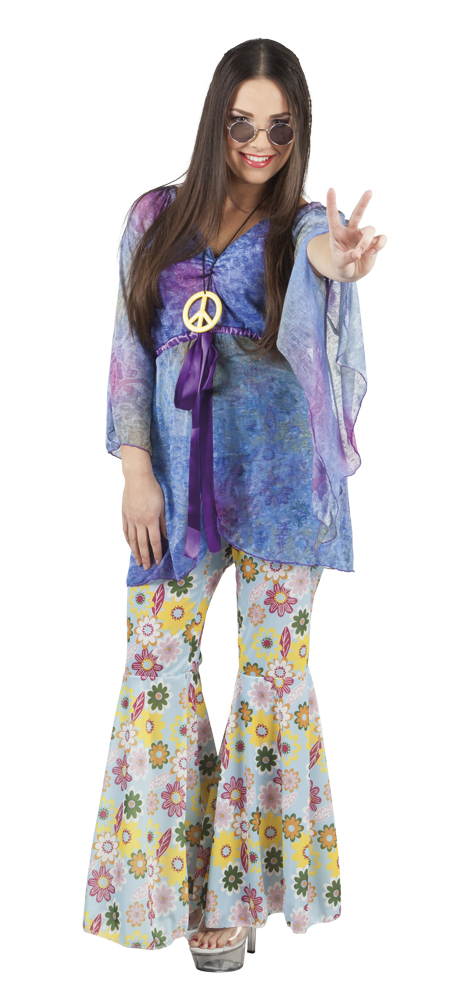 Hippie kostuum Flower Woman 36-38