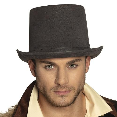 Hoge hoed deluxe grijs