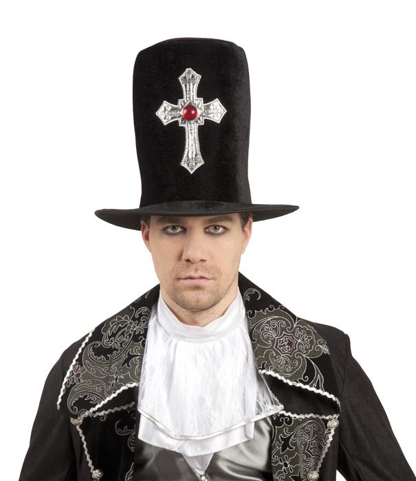 Hoge hoed Gothic Cross