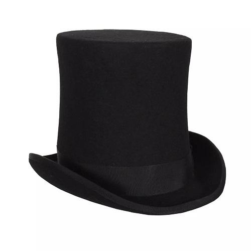 Hoge hoed wolvilt extra hoog zwart - 57