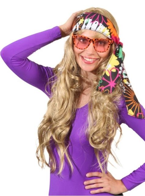 Hoofdband hippie bloemen