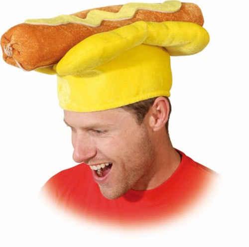 Hotdog hoed mosterd