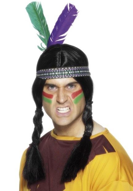 Indianen hoofdband met veer