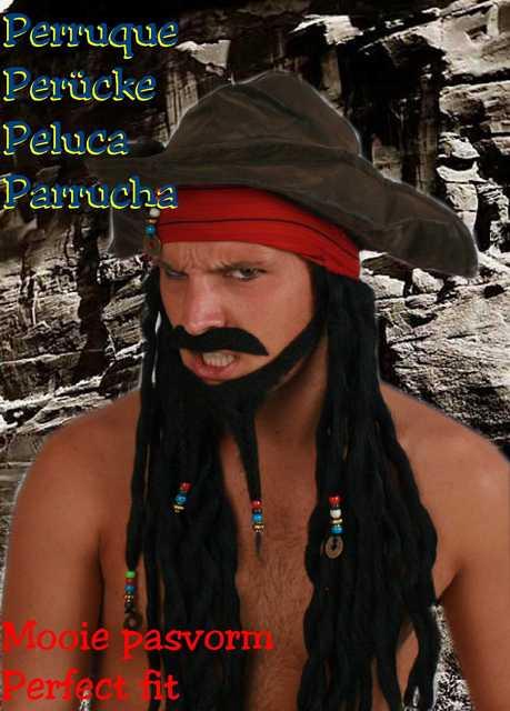 Jack Sparrow set + pruik