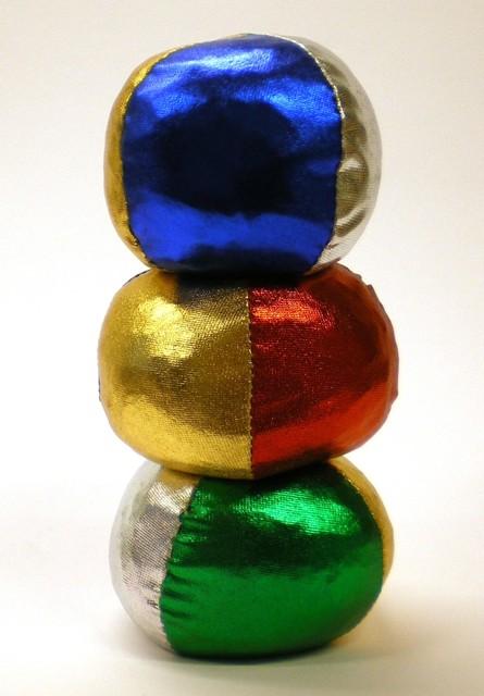 Jongleer ballen eenvoudig metallic