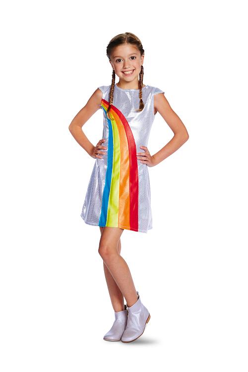 K3 regenboog jurkje kids - 9-11 jaar