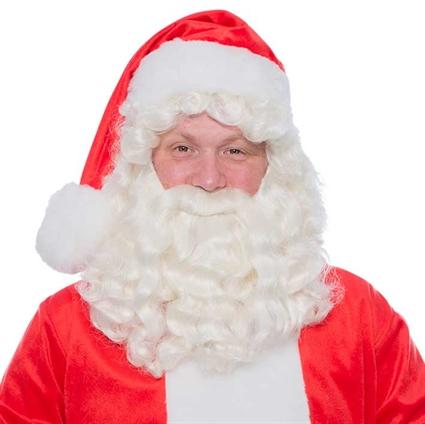 Kerstman baardstel Kanekalon