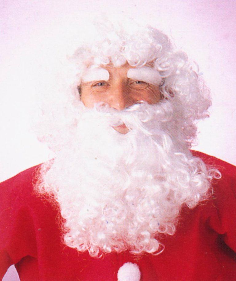 Kerstman baardstel wit