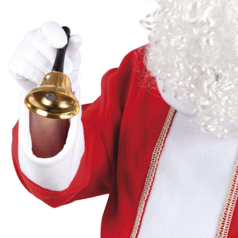 Kerstman bel 12cm