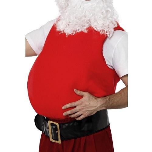 Kerstman buik stof