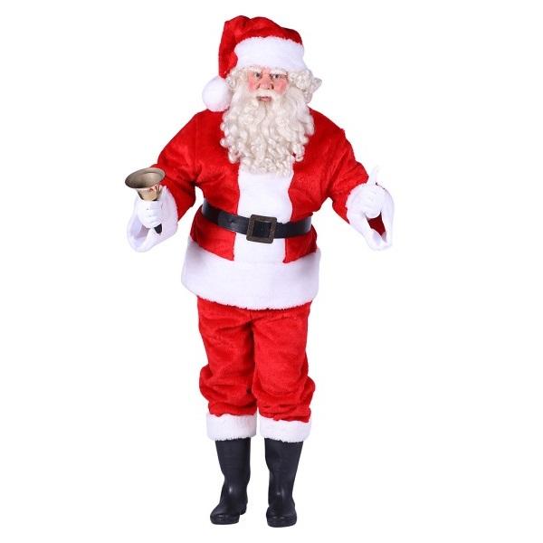 Kerstmanpak pluche - XL