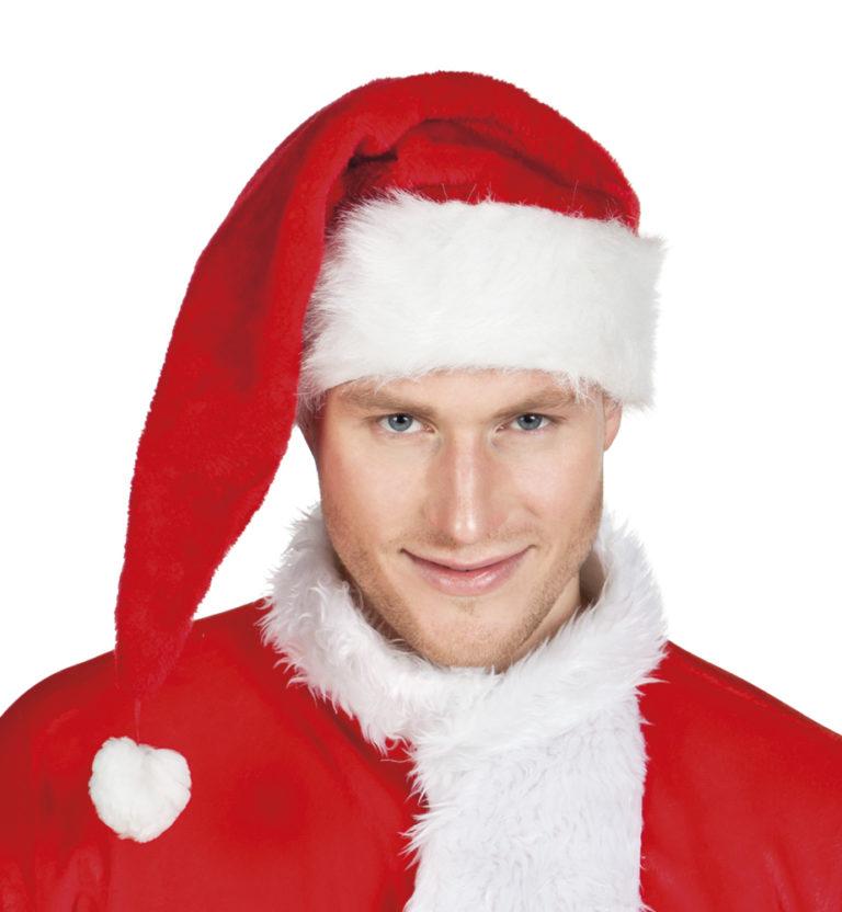 Kerstmuts pluche deluxe