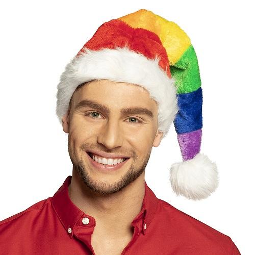Kerstmuts regenboog