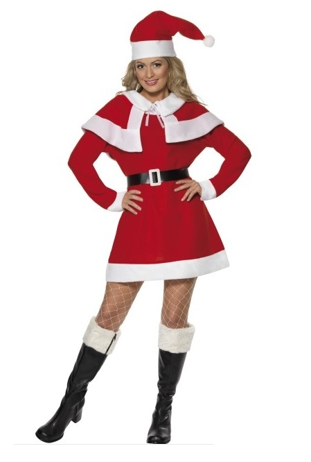 Kerstvrouw fleece cape - Extra large